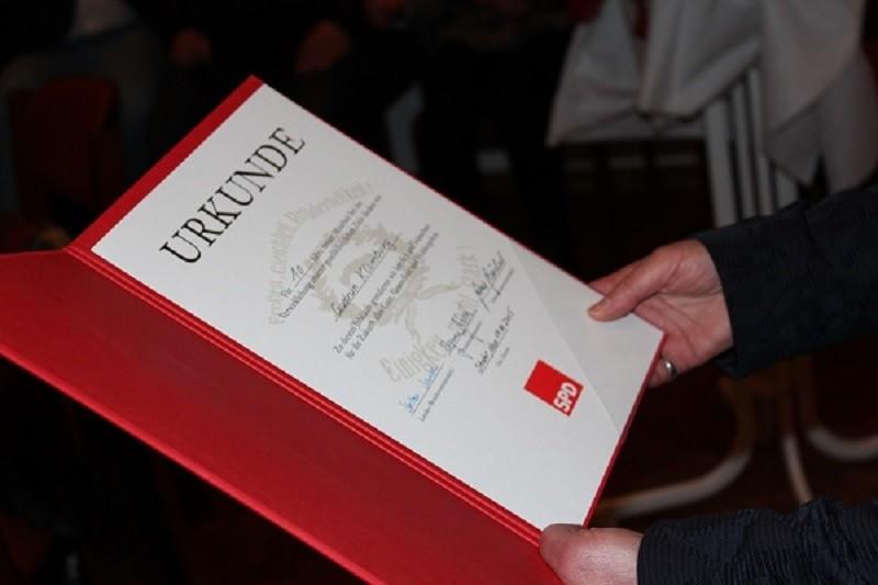 Stuhr Neujahrsempfang 2015 Urkunde
